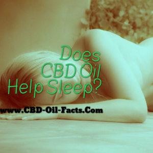 Does CBD Oil Help Sleep?